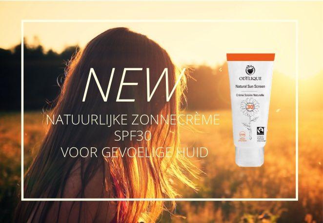 natuurlijke zonnecrème voor gevoelige huid gezicht en lichaam